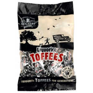 Liquorice Toffees, bag - 12 x 150g