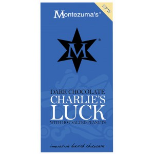 Charlie's Luck - dark Chocolate with Hot Salted Peanuts & Ginger - 12 x 100g