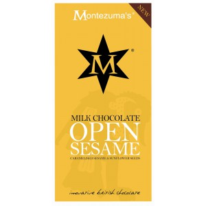 Open Sesame - milk Chocolate with Caramelised Sesame & Sunflower Seeds - 12 x 100g