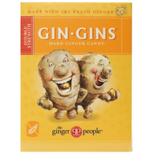 Gin Gins Hard Ginger Candy Double Strength - 12 x 84g