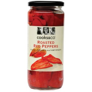 Roasted Red Peppers in Brine - 6 x 460g