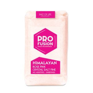 Profusion Himalayan Rose Pink Salt- Fine - Tub with wooden spoon - 6x250g