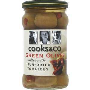 Green Olives stuffed with Sun-dried Tomatoes - 6 x 290g