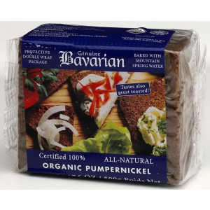 Organic Pumpernickel Bread, Kosher - 12 x 500g