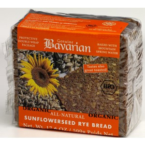 Organic Sunflower Seed Bread, Kosher - 12 x 500g