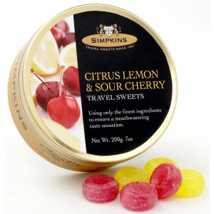 Citrus Lemon & Sour Cherry, tin - 6 x 200g