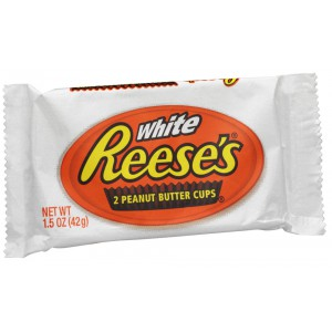 Reese's White Choc 2 Peanut Butter Cups - 24 x 42g