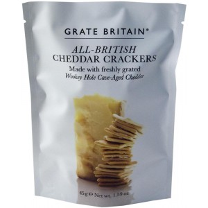 All British Cheddar Crackers, pouch - 20 x 45g