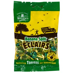 Banana Split Eclair Toffees, bag - 12 x 150g