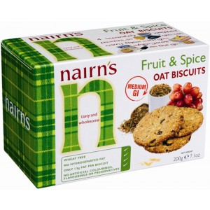 Oat Biscuits, Fruit & Spice - 10 x 200g
