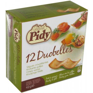 12 Duobelle (Waved Shaped Pastry) - 16 x 42g