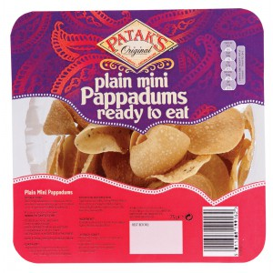 Ready to Eat Assorted Mini Pappadums - 6 x 75g