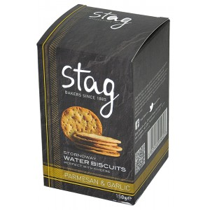 Stornoway Parmesan & Garlic Water Biscuits - 12 x 150g
