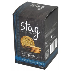 Stornoway Sea Salt & Black Pepper Water Biscuits - 12 x 150g