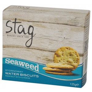 Stornoway Seaweed Cocktail Seaweed Water Biscuits - 12 x 125g