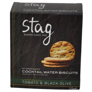 Stornoway Tomato & Black Olive Cocktail Water Biscuits - 12 x 125g