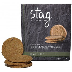 Cocktail Walnut Oatcakes - 12 x 125g
