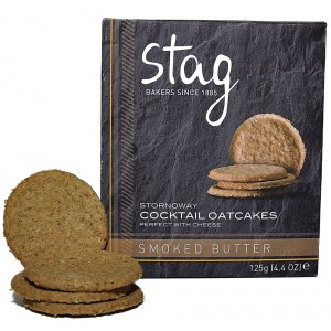 Cocktail Smoked Butter Oatcakes - 12 x 125g