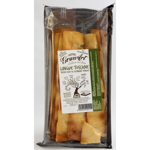 Lingue Toscane, Flatbread Tongues with Olives - 10 x 150g