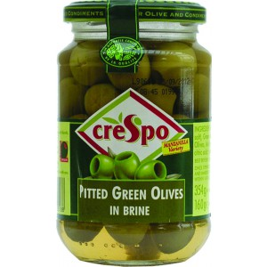 Pitted Green Olives (jar) - 8 x 354g