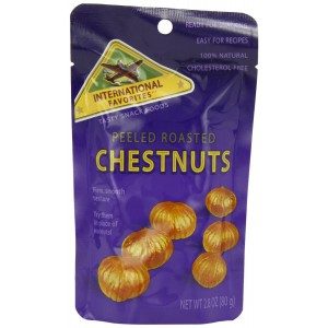 Peeled Roasted Chestnuts - 12 x 80g
