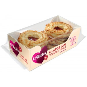 Large Jam Coconut Rings, G Free   - 12 x 1s
