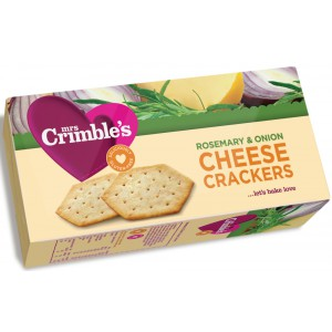 Cheese Crackers, Rosemary & Onion - 12 x 130g