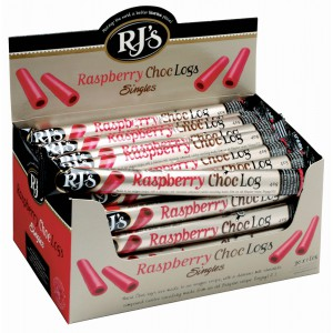Chocolate filled Raspberry Licorice Logs - 30 x 45g