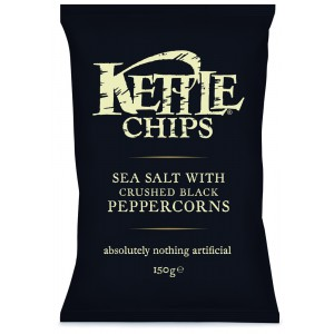 Sea Salt with Crushed Black Pepper - 12 x 150g