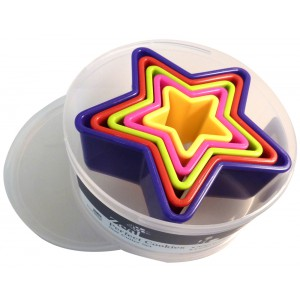 Multicoloured Star Cookie Cutters - 12 x 1s