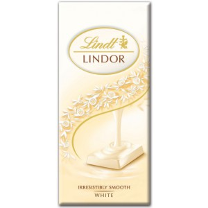 Lindor White Chocolate Bar - 20 x 100g