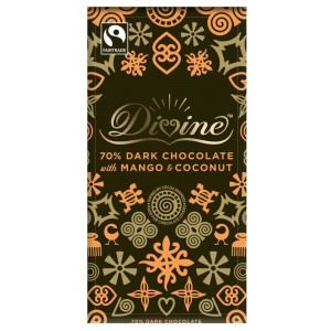 70% Dark Chocolate with Mango & Coconut Bar - 15 x 100g