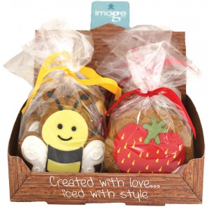 Gingerbread Strawberry & Bumblebee  - 12 x 1s
