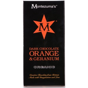 Organic Dark Choc with Orange & Geranium - 12 x 100g
