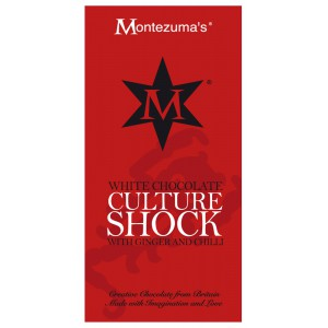 Culture Shock  white chocolate with ginger & chilli - 12 x 100g