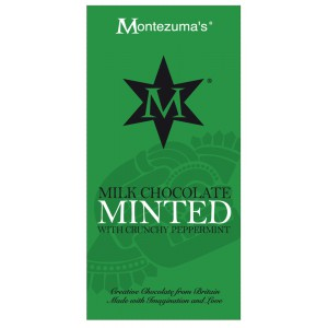 Minted  milk chocolate with crunchy peppermint - 12 x 100g