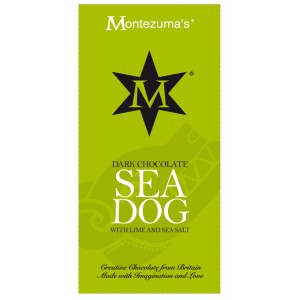 Sea Dog  dark chocolate with lime & sea salt - 12 x 100g