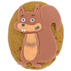 Iced Gingerbread Hider Squirrel - Woody - 12 x 1s