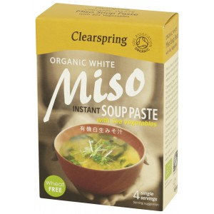 Organic White Miso Soup Paste with Sea Vegetables - 8 x 60g